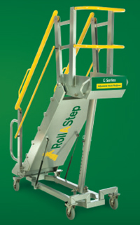 Roll-A-Step mobile working platform