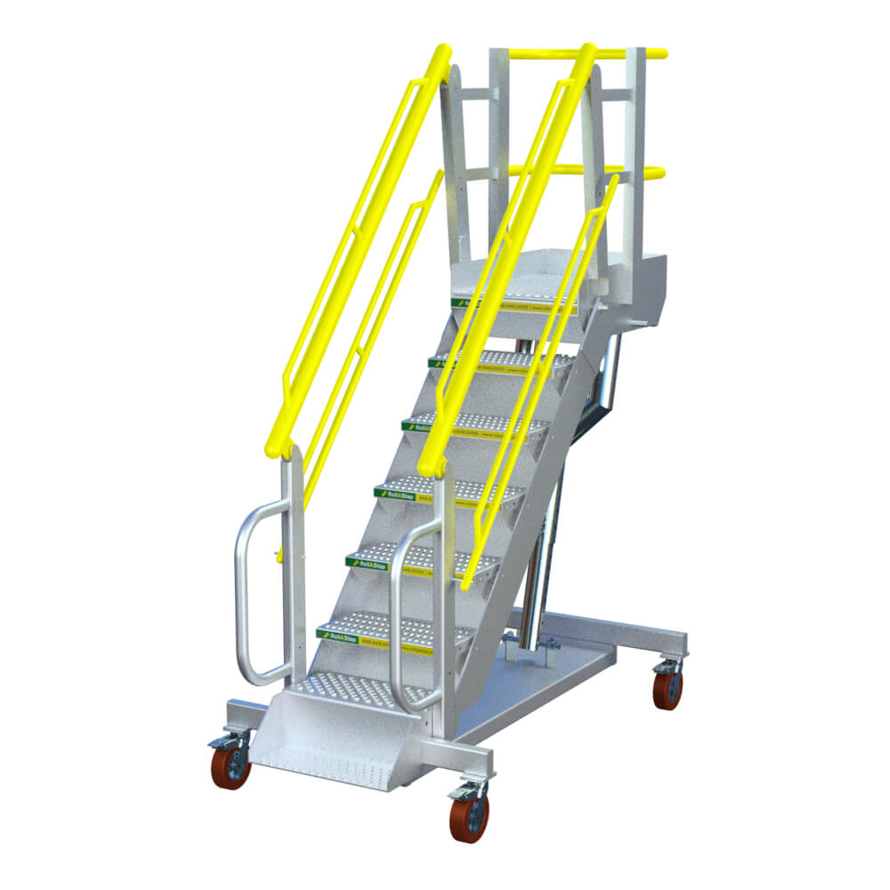 "RollaStep G7 - 30""-75"" High Self-Leveling Stair & Platform"