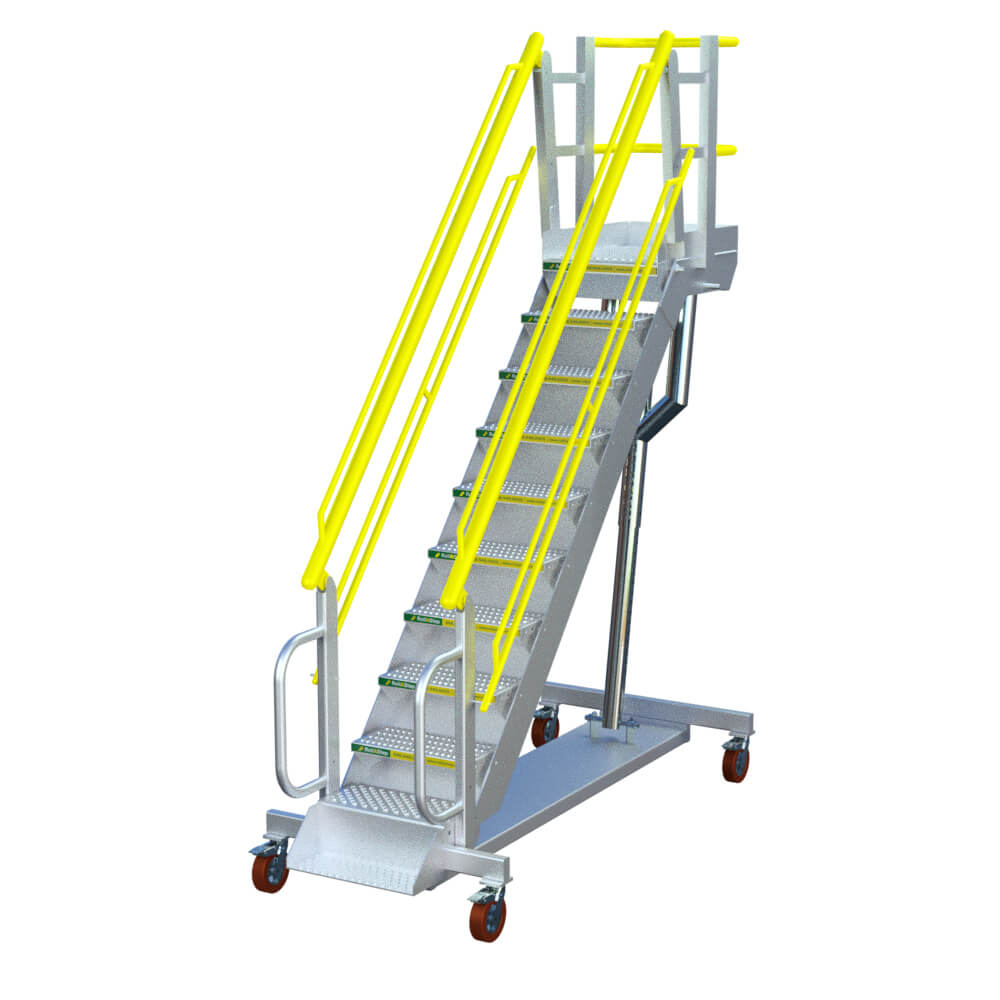 "RollaStep G10 - 36""-105"" High Self-Leveling Stair & Platform"