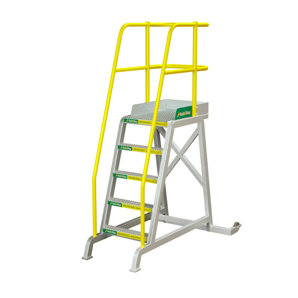 "RollaStep TR60 - 60"" High Tilt/Roll Mobile Process WorkStand"