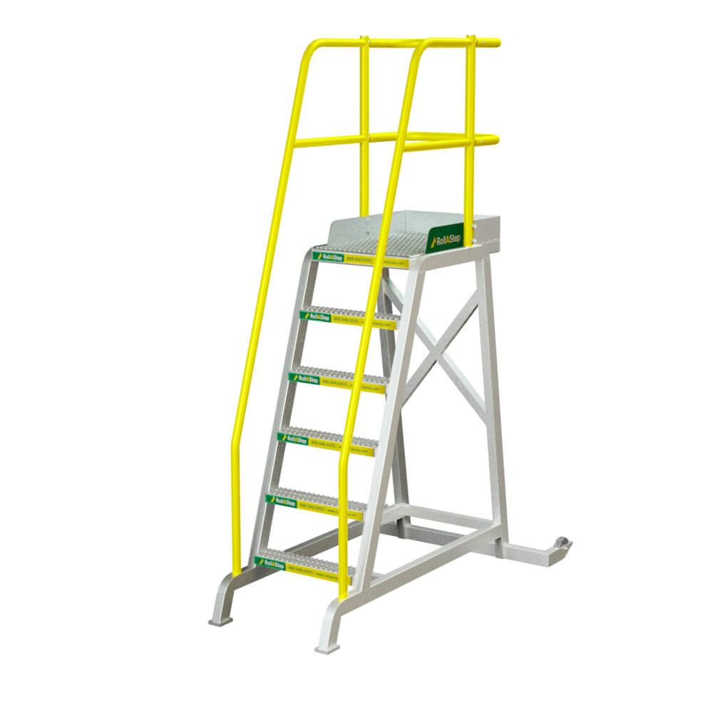 "RollaStep TR72 - 72"" High Tilt/Roll Mobile Process WorkStand"